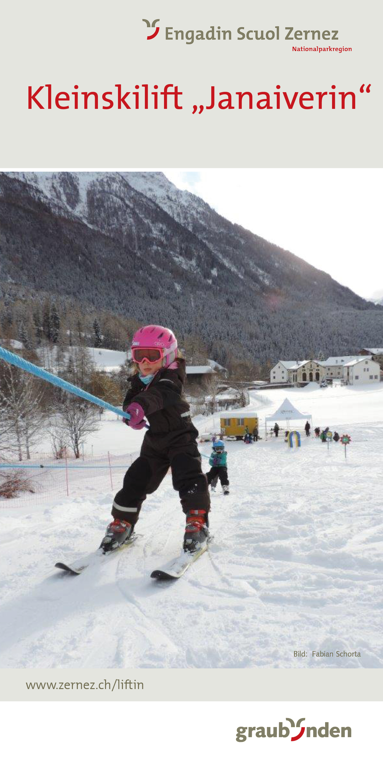 Flyer Kinderskilift Lavin